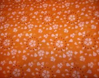 Maybe - Tangerine Cotton  Fabric from Free Spirit 1 yd