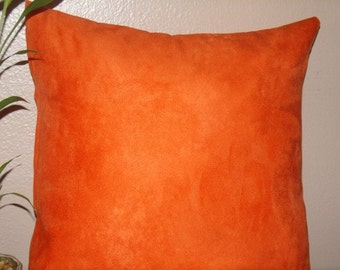 Decorative Pillow Cover, Throw Pillow Cover, Suede Pillow 18 x 18