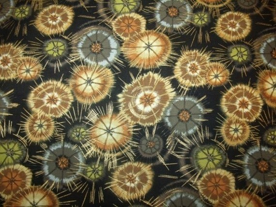 Deja Vue - Needle Star - Rust Cotton Fabric from Benartex 1 yd