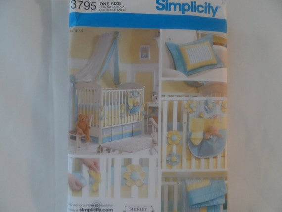 Simplicity Baby Bedding Pattern,quilt,crib sheet,dust ruffle Bumper pads and more,3795