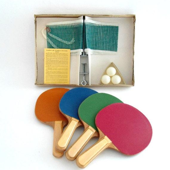 Vintage Table Tennis Set / Ping Pong Set