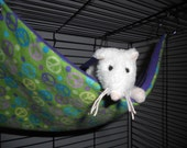 Medium flat rat hammock in Multicolored Peace Signs