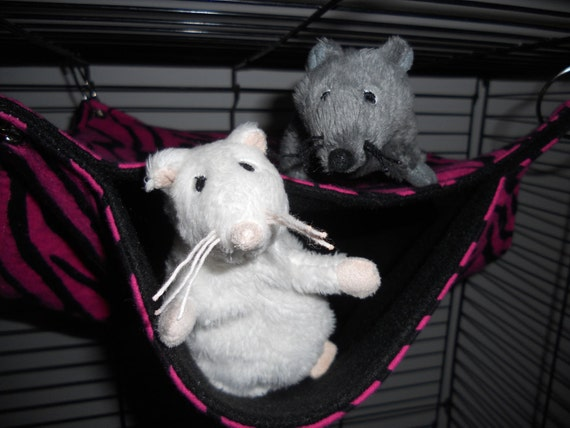 Small bunk bed in Pink Zebra - 20% goes to Mainely Rat Rescue