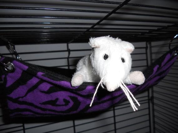 Small flat rat hammock in Purple Zebra