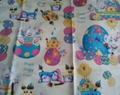 Easter Cotton Fabric, CARTOON EASTER- 1.5 yards
