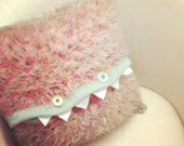 Crazy Furry Monster Knit Pillow