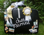 Wedding Card Holder-Vintage Suitcase