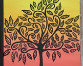 Original Acrylic Tree Painting by GinnArt