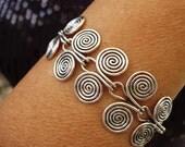 Wire Bracelet - Etruscan swirls