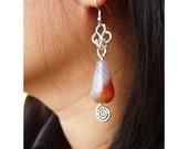 Earrings Wire - Drops Murano glass