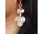 Silver wire Earrings - The Tree