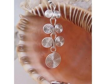 Wire Earrings -  Etruscan swirls