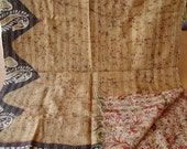 kantha shawls/kantha unique shawls /hand quilted shawls/hand stitched shawls flower print hand quilted