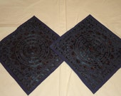latest designs of hand embroidery fine mirror work cushion cover