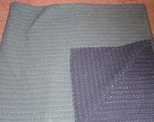 handmade reversible plain color kantha quilt throw/cover/quilt/gudri