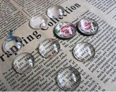 100pcs 20mm Clear Glass Transparent Clear Oblate Cabochon Cameo Cover Cabs