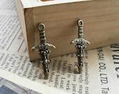 30 pcs 13x28mm The Sword Dagger  Antique Bronze Retro Pendant Charm For Jewelry Pendant C368