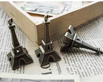 5 pcs 22x42mm Antique Bronze The Eiffel Tower  Pendant Charm