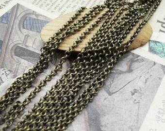 16 Feet 2mm Antique Bronze  Chains
