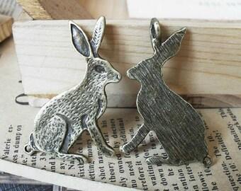 10pcs 33x47mm Antique Bronze the rabbit Charm Pendant