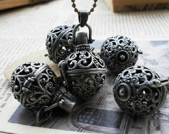2pcs 17x28mm Antique Bronze the  Wishing ball  Charm Pendant