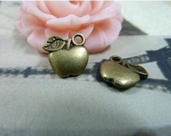 50pcs 11x11mm The Apple Antique Bronze Charm For Jewelry Pendant