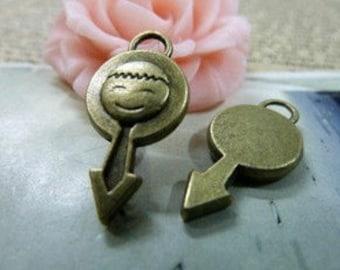 10pcs 11x23mm The Boy Sign Antique Bronze Retro Pendant  Charm For Jewelry Pendant