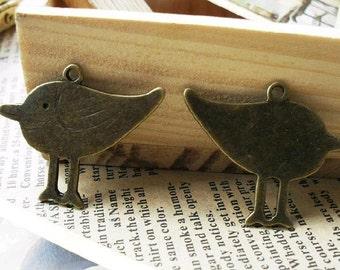 20pcs 27x32mm The Birds Antique Bronze  Charm Pendant  C152