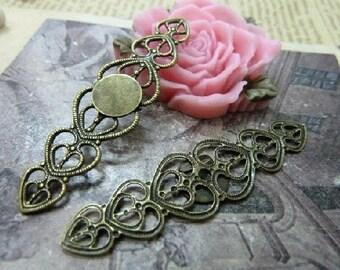 5pcs 14x54mm The Flower Antique Bronze Retro Pendant  Charm For Jewelry Pendant C1225