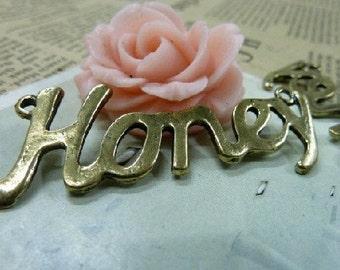 5pcs 20x56mm The Honey Antique Bronze Retro Pendant  Charm For Jewelry Pendant C1613