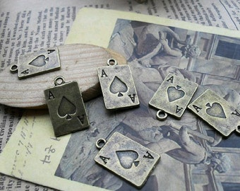 20pcs 12x20mm The Red Hearts A Antique Bronze Retro Pendant Charm For Jewelry Pendant C309