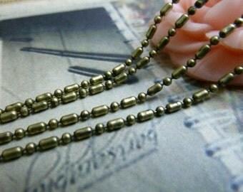 16 Feet  1.5mm Antique Bronze Plated Brass  Chains