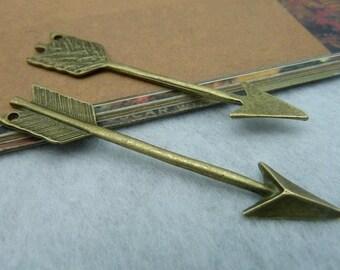 20 pcs 11x63mm The Arrow  Antique Bronze Retro Pendant Charm For Jewelry Pendant C2168