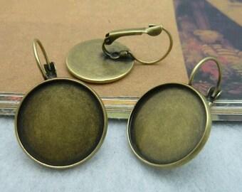 20pcs 18mm The Ear Clip Antique Bronze Charm For Earring Pendant C2261