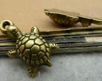 10pcs 18x10mm The Tortoise  Antique Bronze Retro Pendant Charm  For Jewelry Pendant C2831