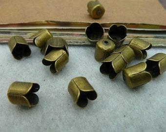 200pcs 6X6mm The Cap  Buckle Antique Bronze Retro Pendant Charm For Jewelry Pendant C2474