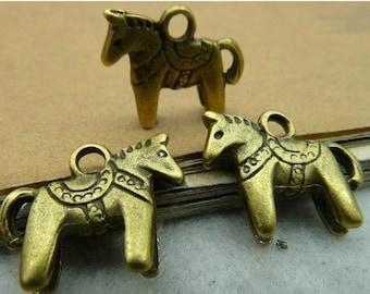10pcs 12x13mm The Horse  Antique Bronze Retro Pendant  Charm For Jewelry Pendant C2796
