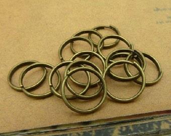 LOT OF 200pcs 10mm Antiuqe Bronze double loop split rings connector C3281