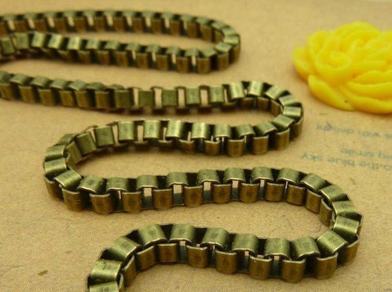 16feet  3x3mm Antique Bronze Alloy Chains E1036