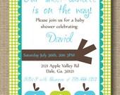 "RESERVED for ""allgirlcouture"" Custom DIY Printable Apple Birthday Party Invite"