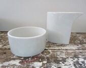 Modern Dansk Designs Mid Century Dishes Plates White Creamer and Sugar Bowl