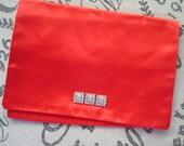 Silk Christian Dior Lingerie Pouch Hankie Pouch Handkerchief Case Toiletry Bag