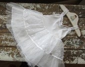 1950's Baby Dress White Sweet