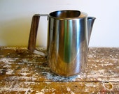 Vintage Pitcher Water Pitcher Water Carafe Stainless Steel Pitcher Mid Century Pitcher  Wedding Gift International Decorator Stainless