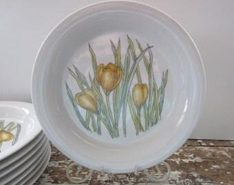 Vintage Plate Mid Century Dansk Designs Crocus Salad Plates Set of 8