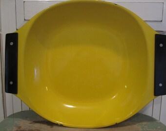 Vintage Cathrineholm Yellow Dish Bowl Large Enamel Mid Century