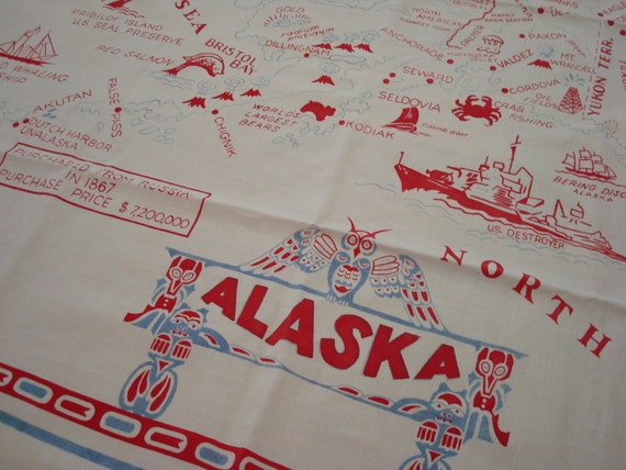 vintage alaska tablecloth