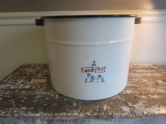 Storage Bin Art Deco Bin Storage Containter Handy Enamel Tub Wash Tub Enamel Wash Tub Storage Basket Large Enamel Bin Towel Bin Toy Bin