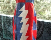 Grateful Dead hippie patchwork lightning bolt dress