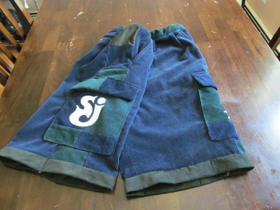 String Cheese Incident patchwork panel hippie shorts